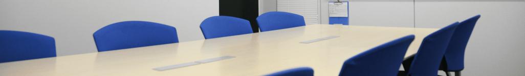 本社の会議室。面接や面談にも使用される。